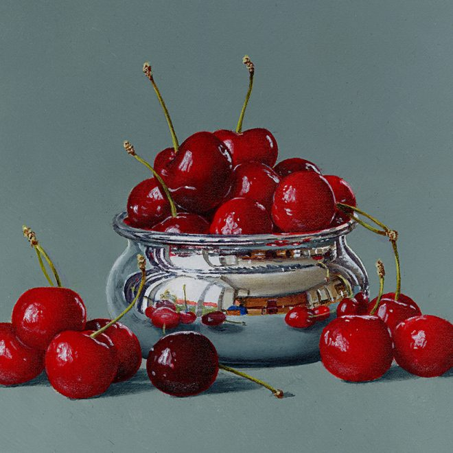 Cherries In A Little Silver Bowl (David John Leathers)