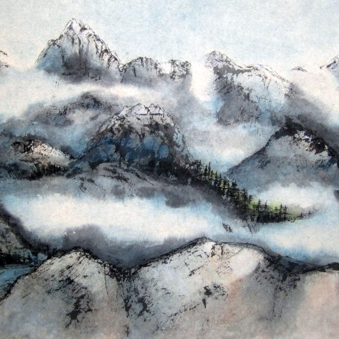 Cloudy Peaks Canadian Rockies Along The Great Divide (Ann Massing)