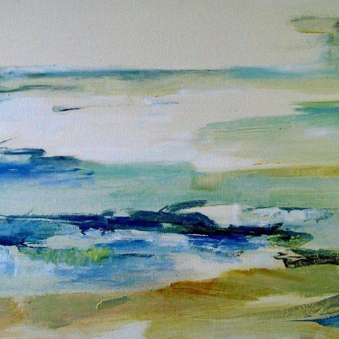 Cornish Seascape - detail (Binnie Macellari)