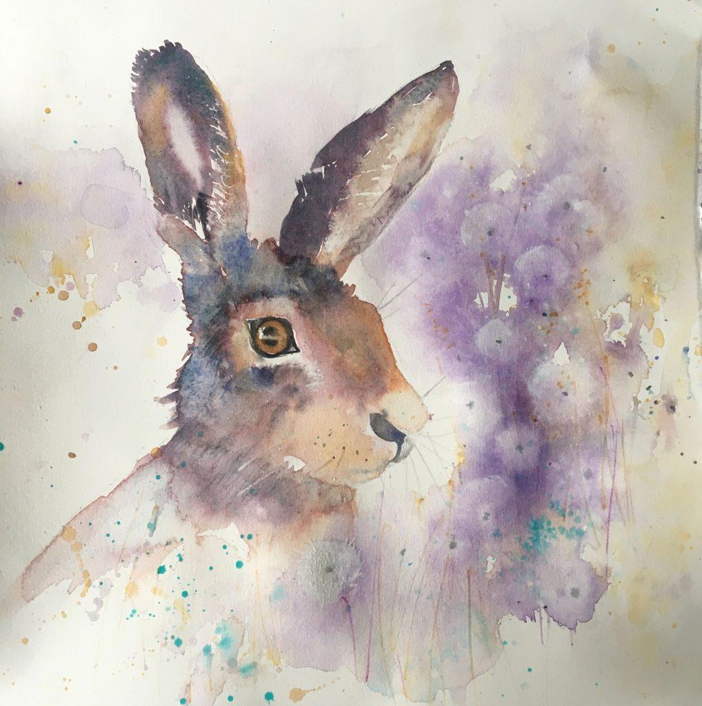 Hare In the Dandelions (Helen Clarke)