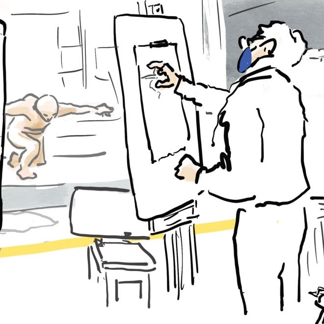 Life Drawing in the Time of Coronavirus (Susan Abbs)
