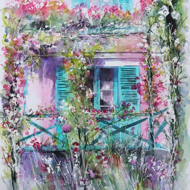 Pink Walls, Green Shutters (Chris Lockwood)