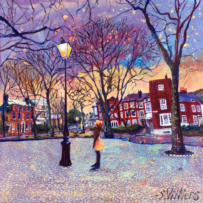 Pond Square, Highgate in February (Sonia Villiers)