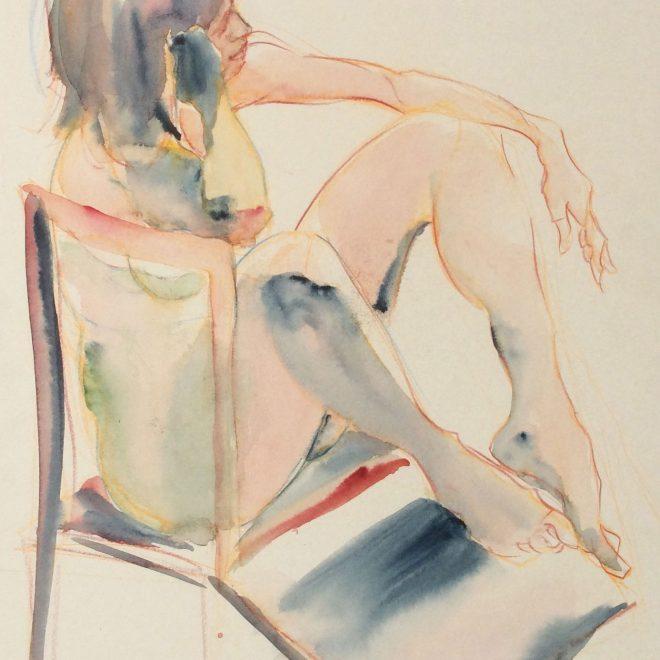 Seated Nude (Daydreaming) (Francesca Gagni)