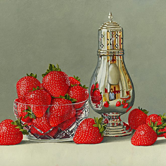 Strawberries In A Crystal Bowl (David John Leathers)