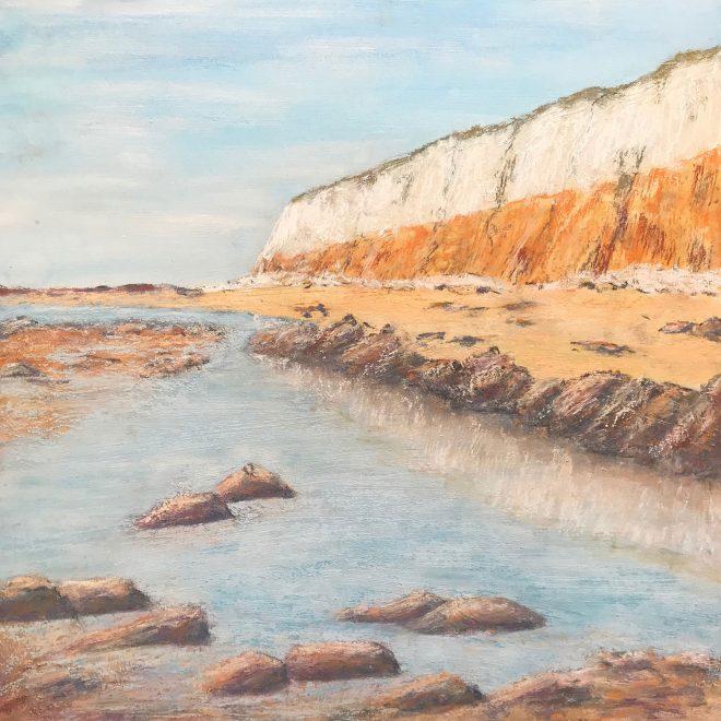 The lofty cliff of carrstone & chalk (Lynn Norton)