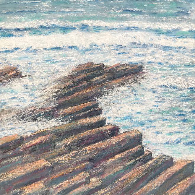 White-plumed waves along the shore (Lynn Norton)