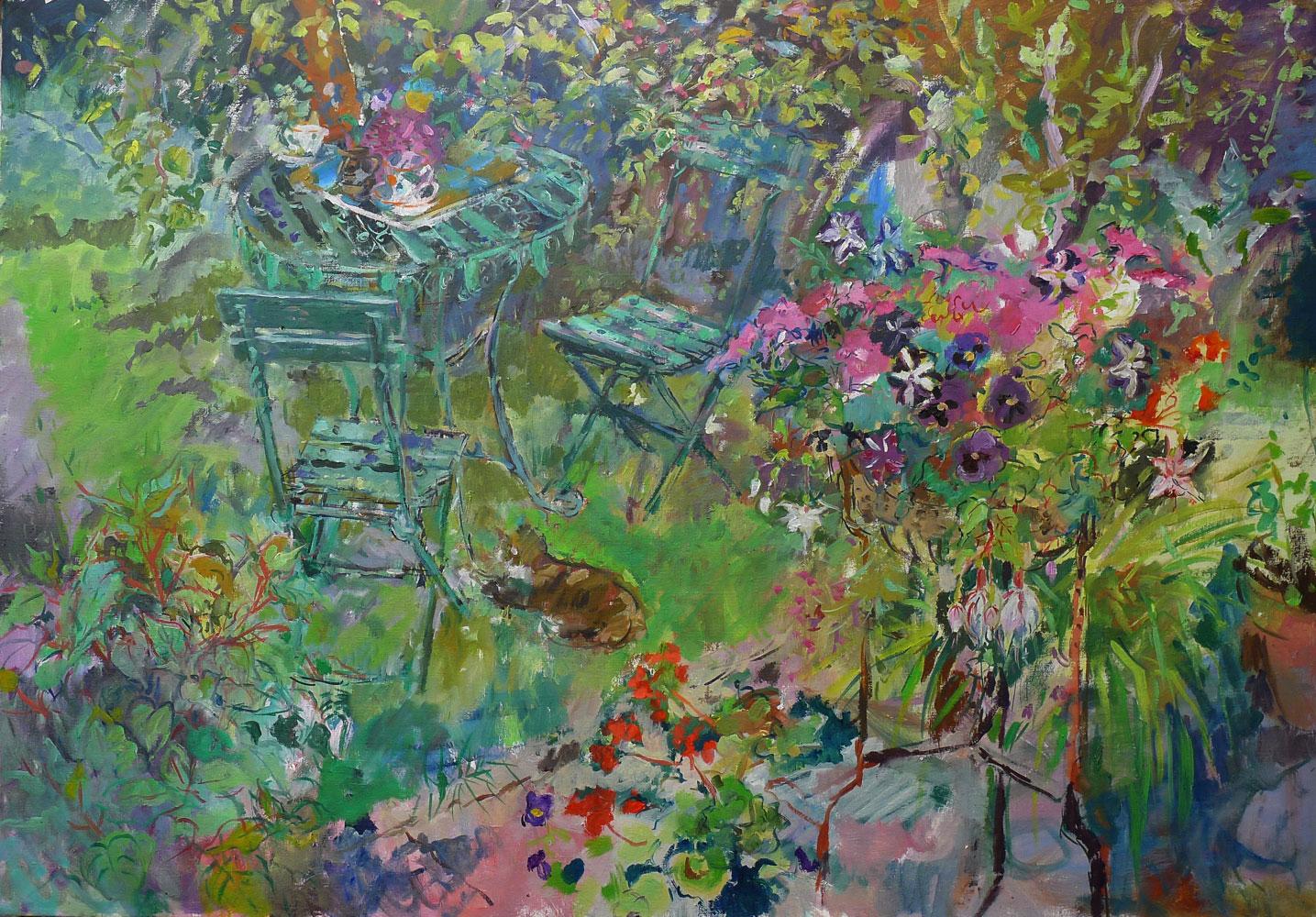 Garden-with-Jardiniere-(Richard-Baker)