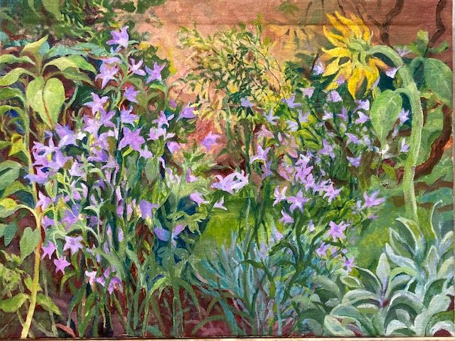Harebells with Sunflower (Joan Jeans)