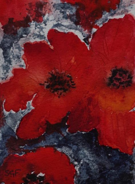 'Poppy'   Watercolour (Card)