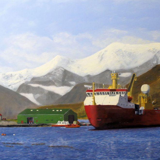 RRS-Ernest-Shackleton-at-King-Edward-Point,-South-Georgia-(Paul-Rodhouse)