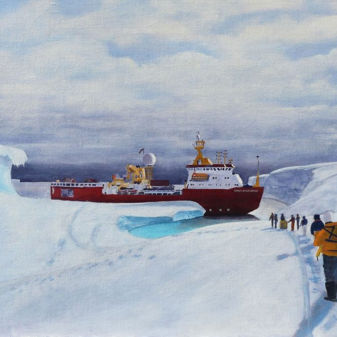 RRS-Ernest-Shackleton-ice-anchors-out-on-the-Brunt-Ice-Shelf-(Paul-Rodhouse)
