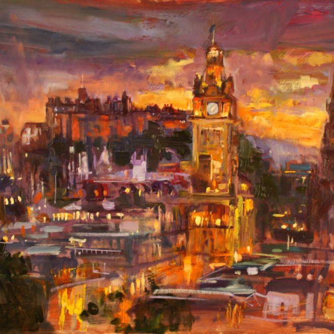 Sunset-Over-Edinburgh-(John-Glover)