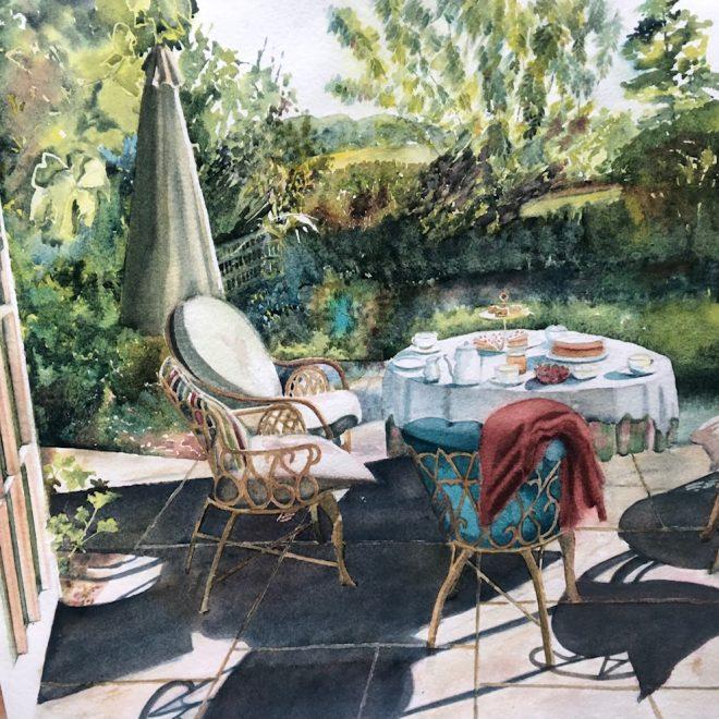 Teatime on the verandah (Mel Collins)