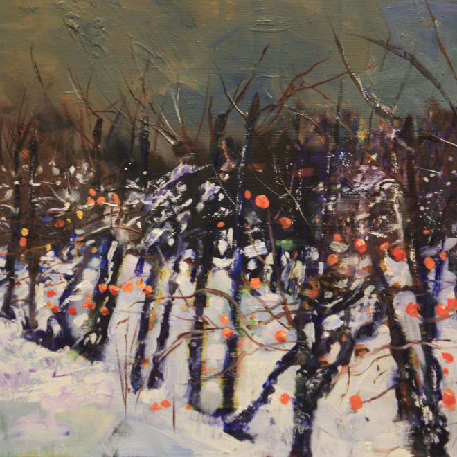 The-Apple-Orchard-in-Snow-(John-Glover)
