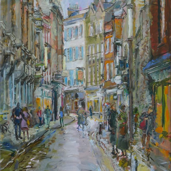 Trinity-Street-in-the-Rain-(Richard-Baker)