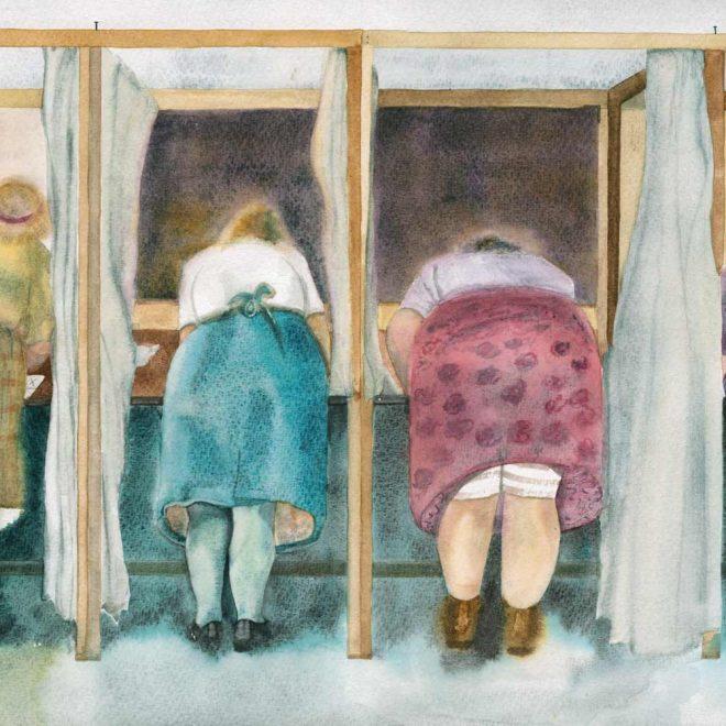 Votes four women (Mel Collins)